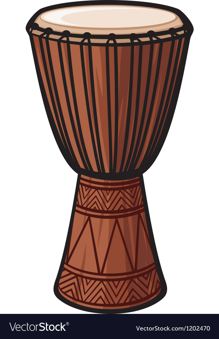 African drum vector | Price: 1 Credit (USD $1)
