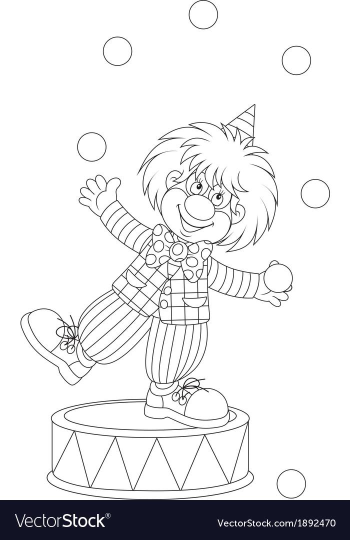 Clown juggler vector | Price: 1 Credit (USD $1)