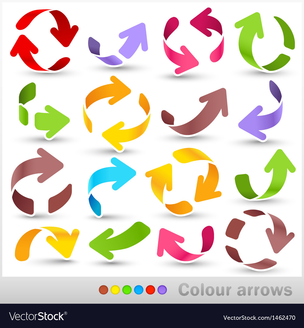 Colour arrows vector | Price: 1 Credit (USD $1)