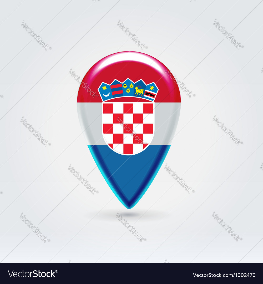 Croatian icon point for map vector | Price: 1 Credit (USD $1)