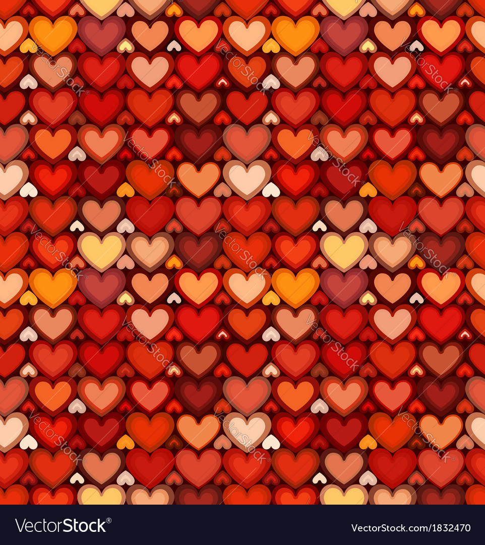 Red mottled hearts seamless pattern vector | Price: 1 Credit (USD $1)