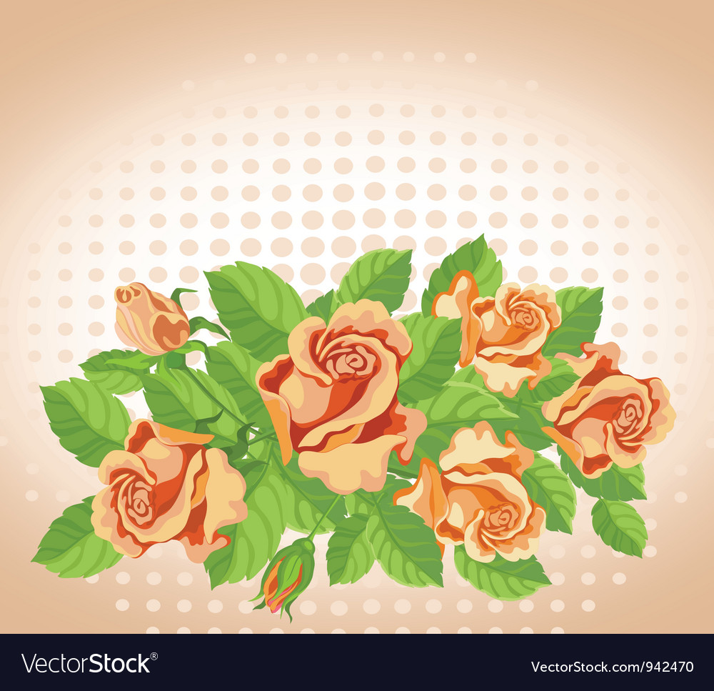 Roses card fine vector | Price: 1 Credit (USD $1)