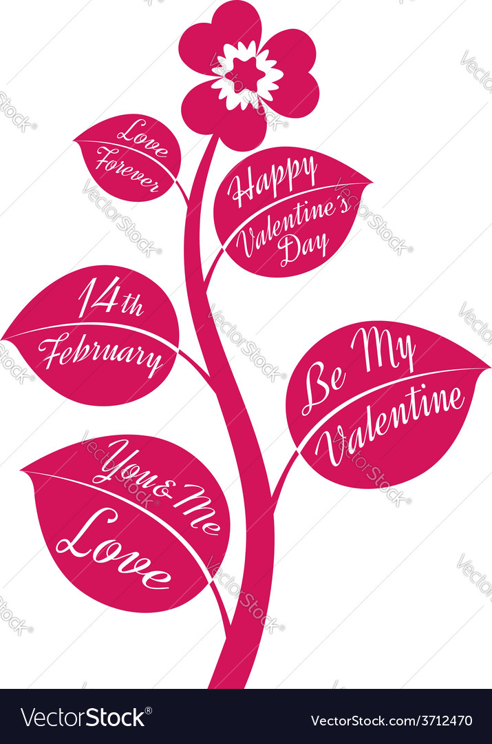 Valentine flower vector | Price: 1 Credit (USD $1)