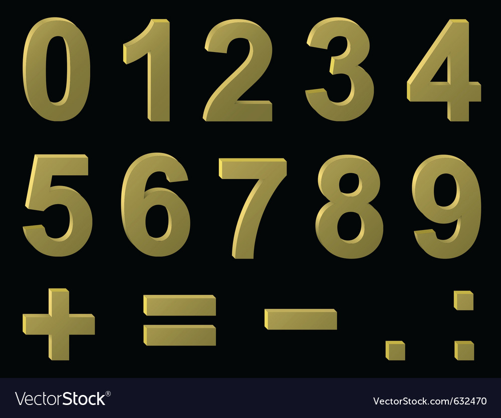 Volume metal digits vector | Price: 1 Credit (USD $1)