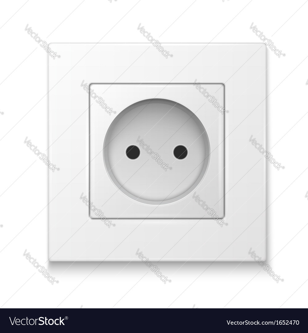 White socket outlet vector | Price: 1 Credit (USD $1)