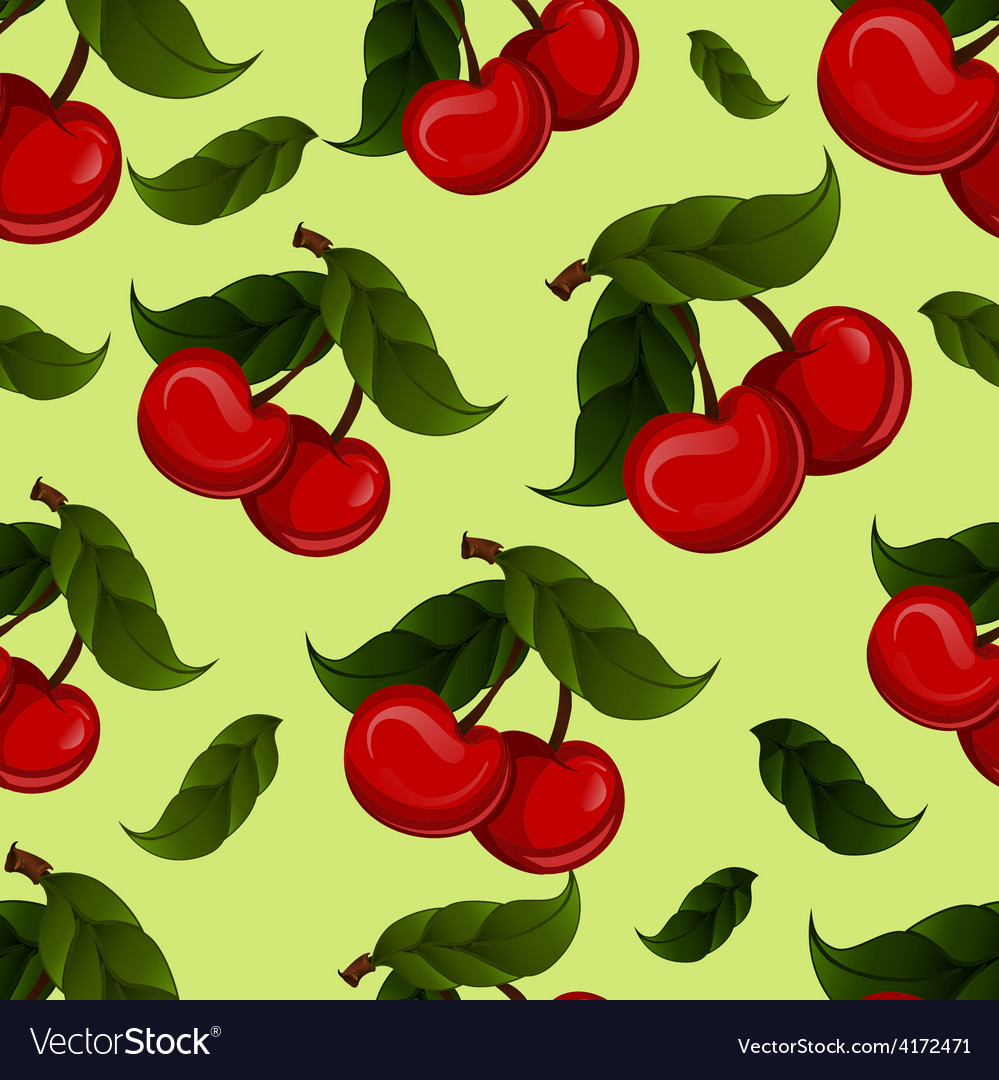 Bright jucy fresh cherry fruit  cherries vector | Price: 1 Credit (USD $1)