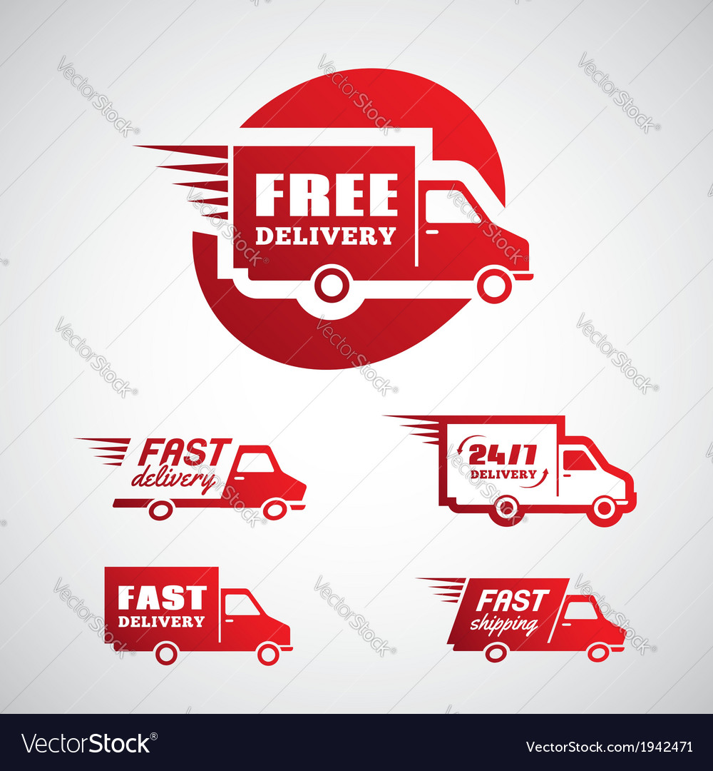 Delivery and shipping 2 vector | Price: 1 Credit (USD $1)