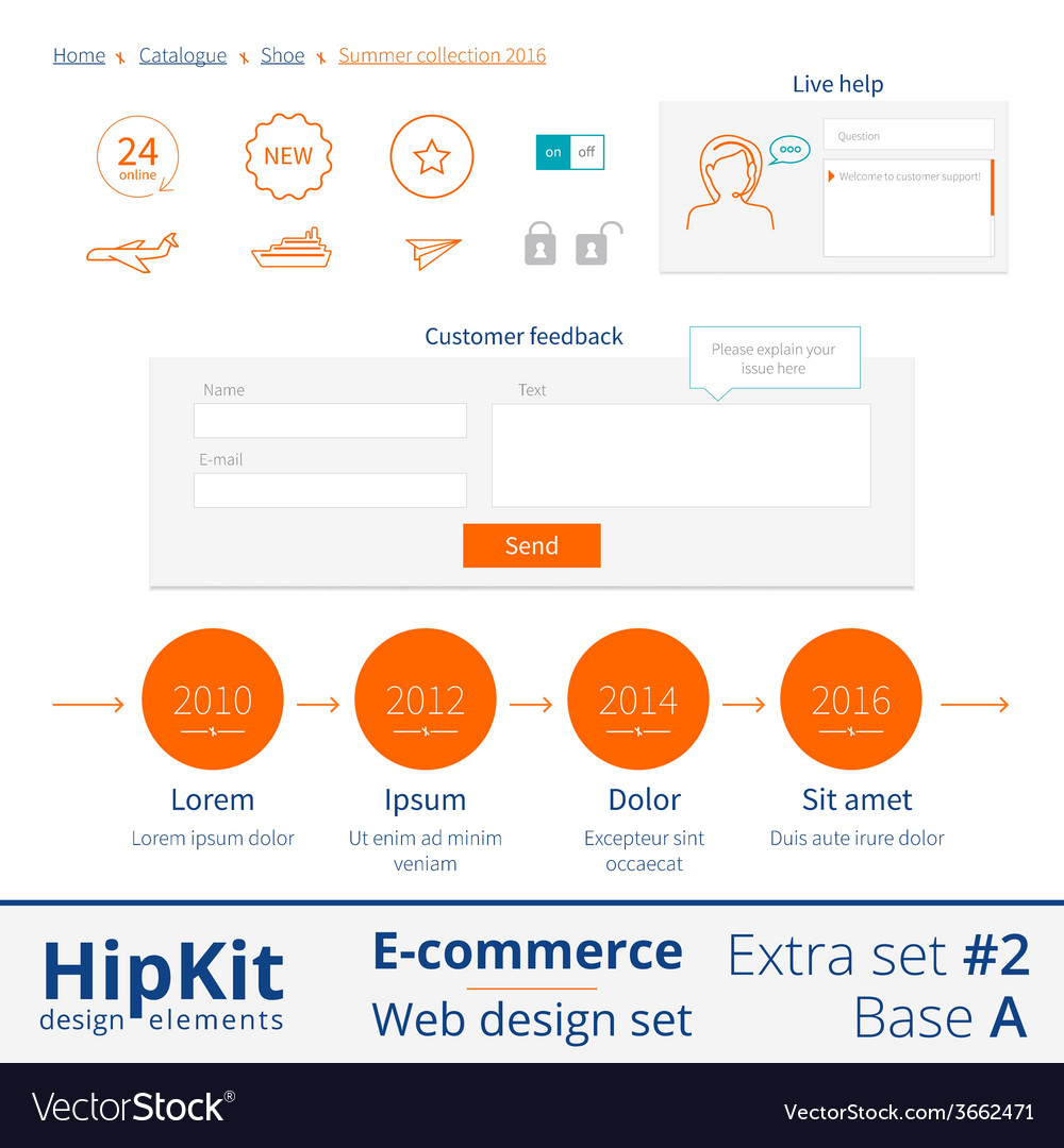 E-commerce web design elements extra set 2 vector | Price: 1 Credit (USD $1)