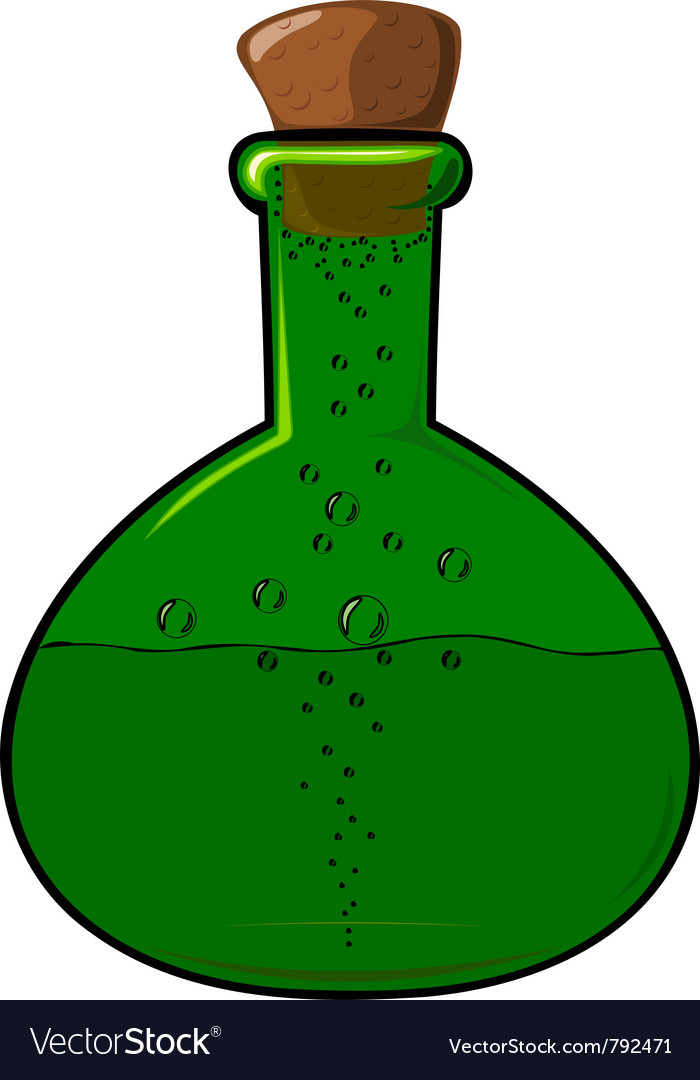 Green bottle with a cork vector | Price: 1 Credit (USD $1)