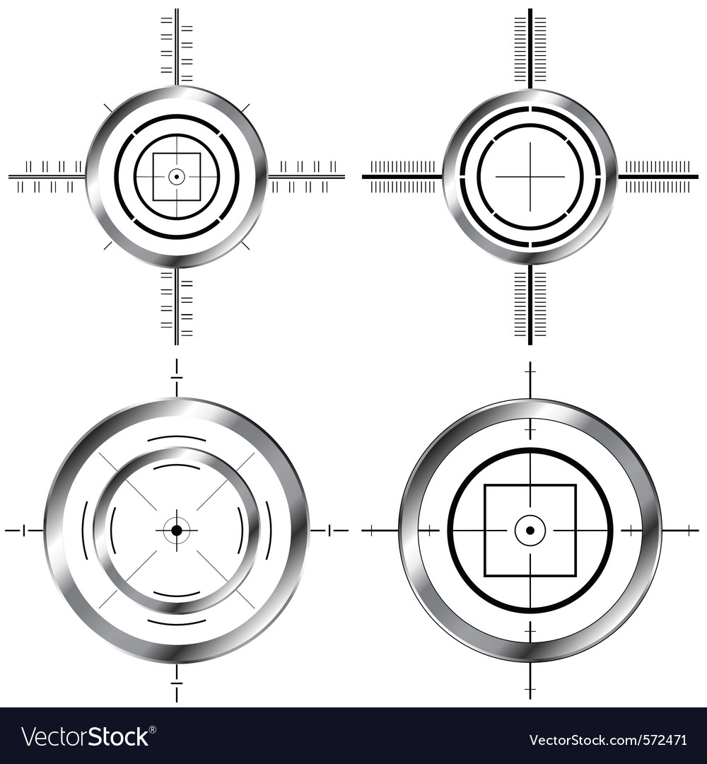 Gun sights vector | Price: 1 Credit (USD $1)