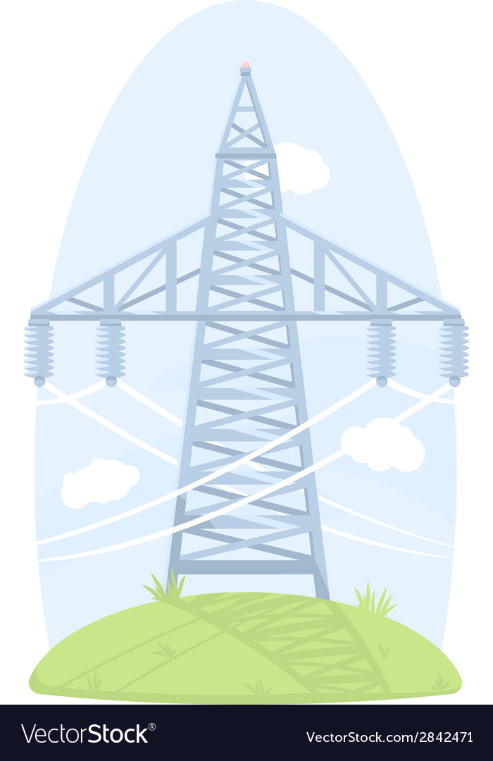 High voltage post vector | Price: 1 Credit (USD $1)