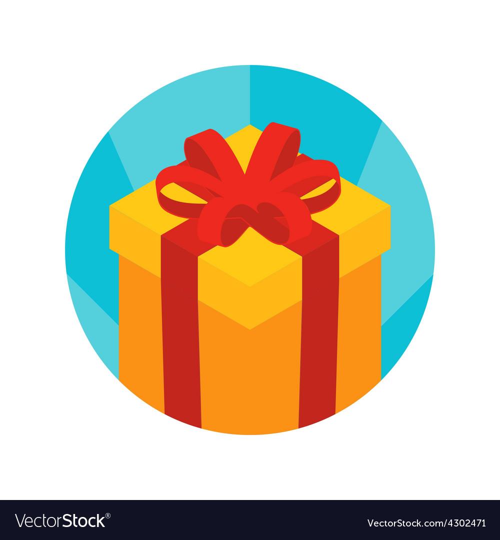 Isometric gift box icon vector | Price: 1 Credit (USD $1)