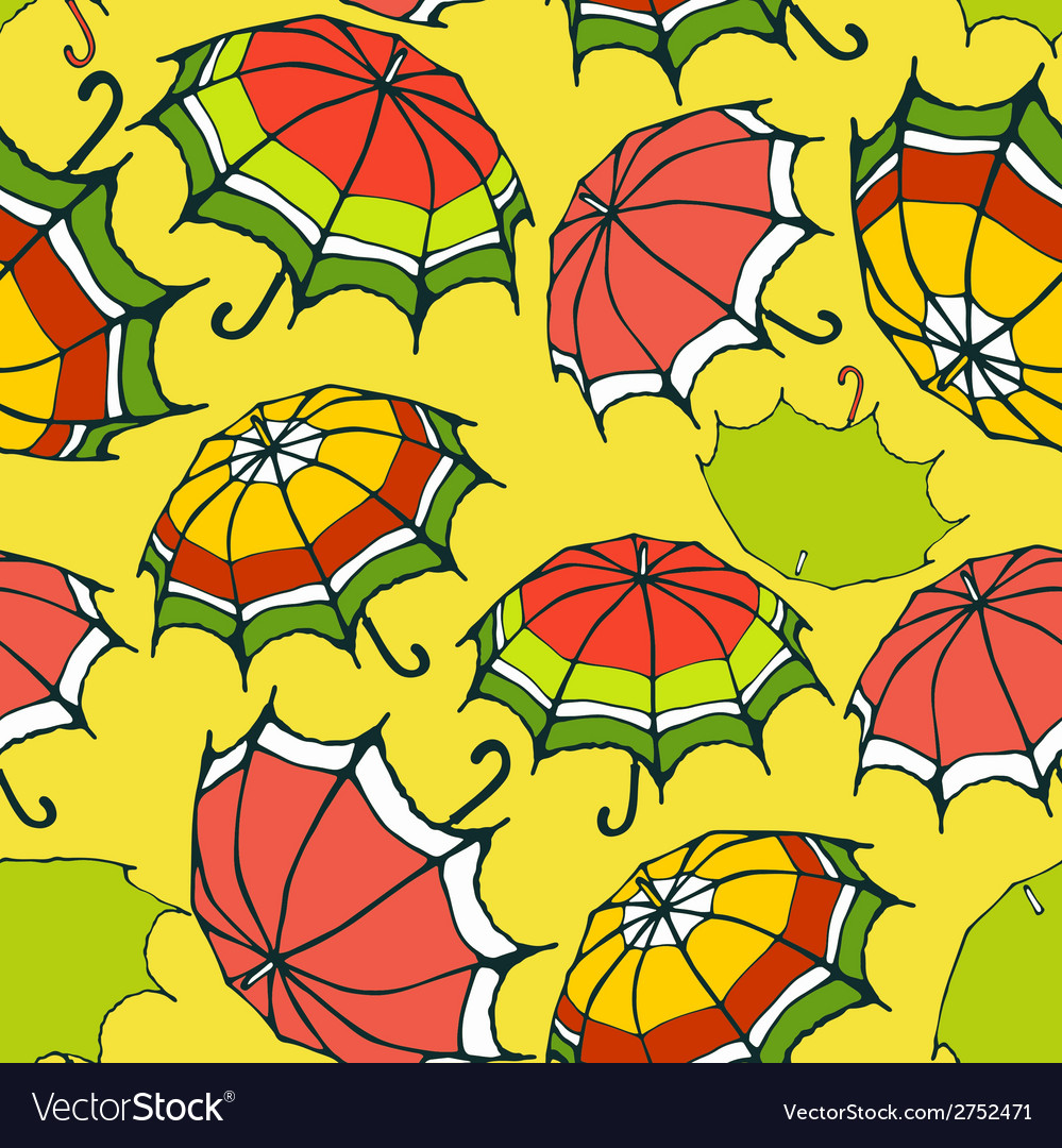 Seamless pattern with decorative umbrellas vector | Price: 1 Credit (USD $1)