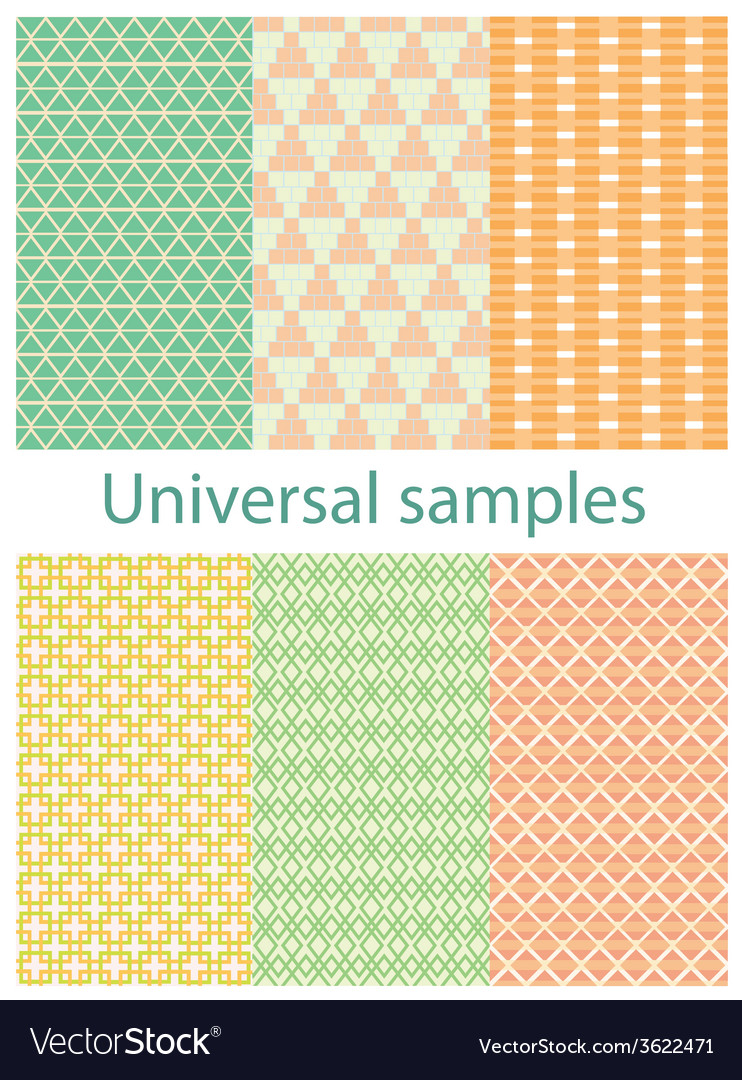 Set from six original samples on a white vector | Price: 1 Credit (USD $1)
