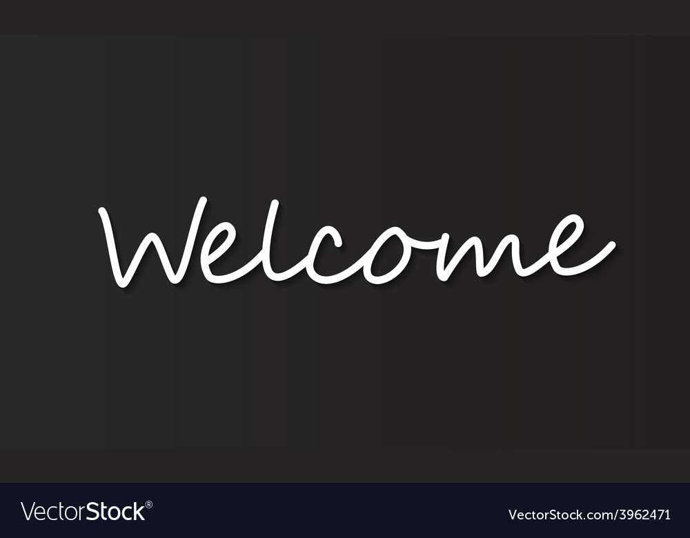 Welcome typography vector | Price: 1 Credit (USD $1)