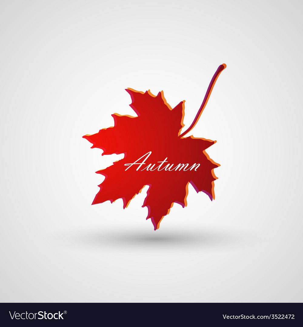 A maple leaf vector   Price: 1 Credit (USD $1)