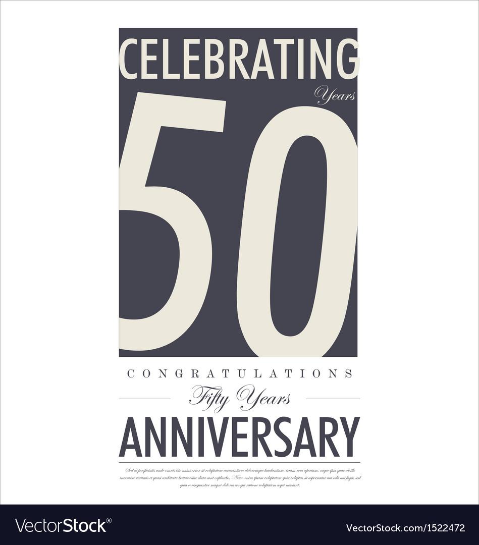 Anniversary retro background vector   Price: 1 Credit (USD $1)
