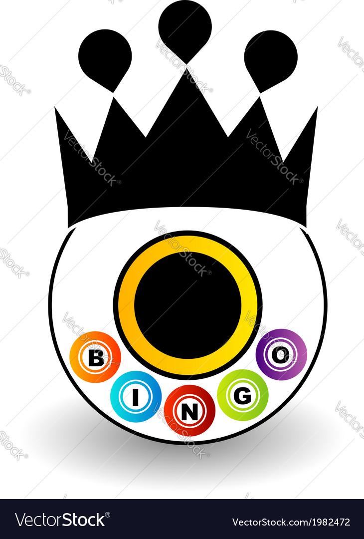 Bingo logo with a crown vector | Price: 1 Credit (USD $1)