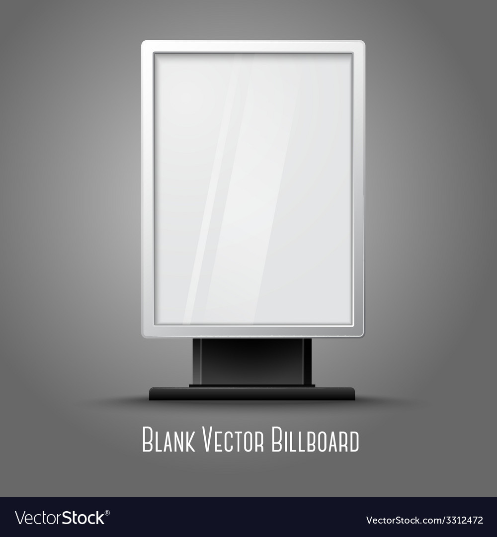 Blank white vertical billboard with place for your vector | Price: 1 Credit (USD $1)