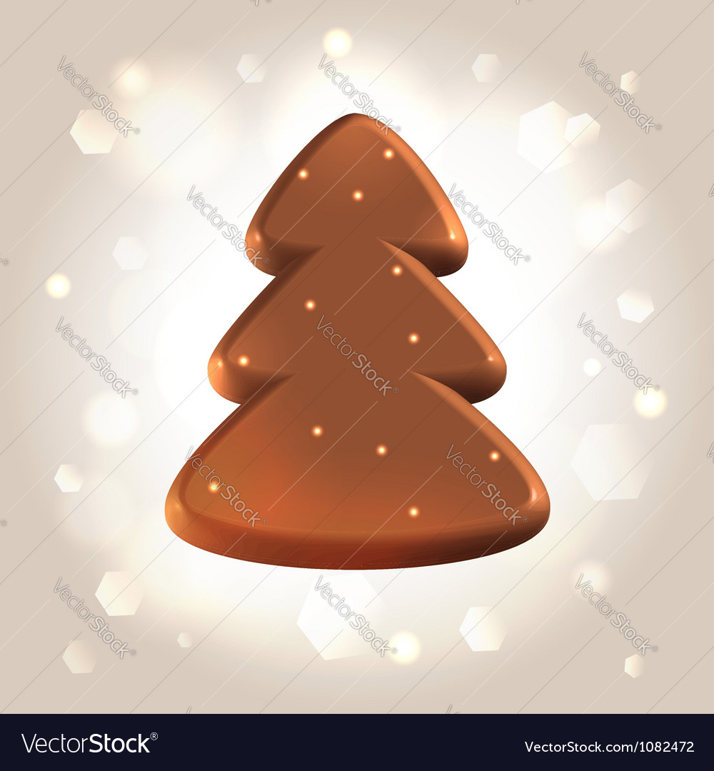 Chocolate new year tree star fugure prize vector | Price:  Credit (USD $)