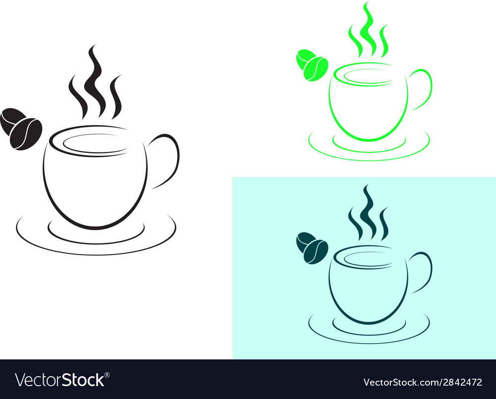 Cup of hot coffee logo sign vector | Price: 1 Credit (USD $1)