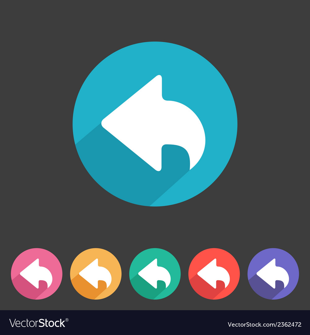 Flat game graphics icon back vector | Price: 1 Credit (USD $1)