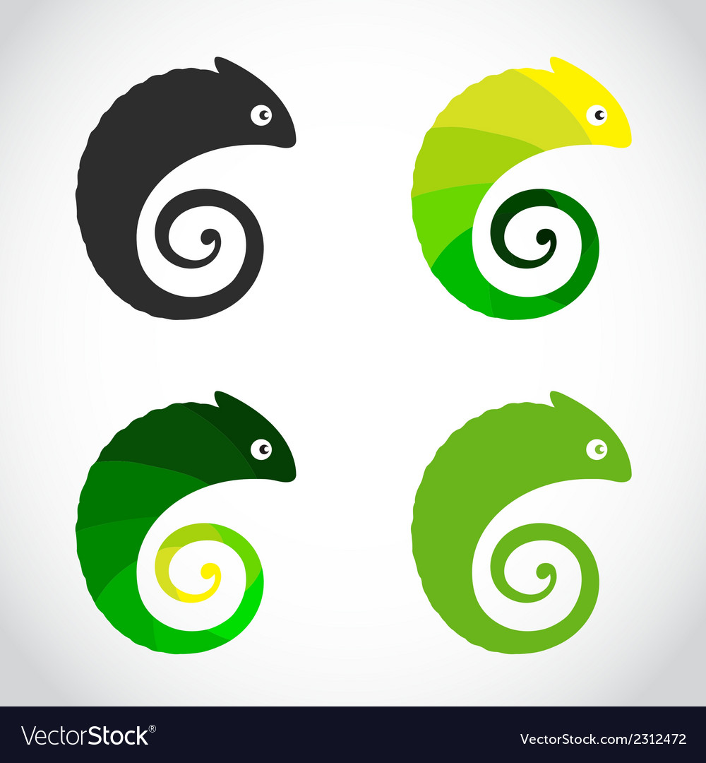 Group of chameleon vector | Price: 1 Credit (USD $1)