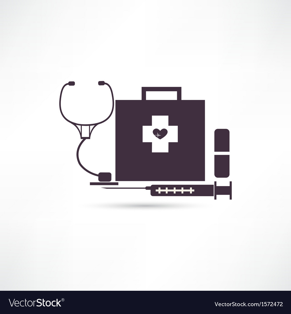 Items medicine icon vector | Price: 1 Credit (USD $1)
