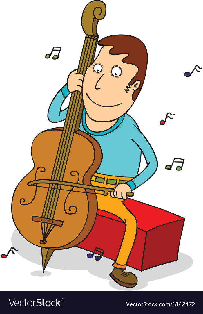 Man playing cello vector | Price: 1 Credit (USD $1)