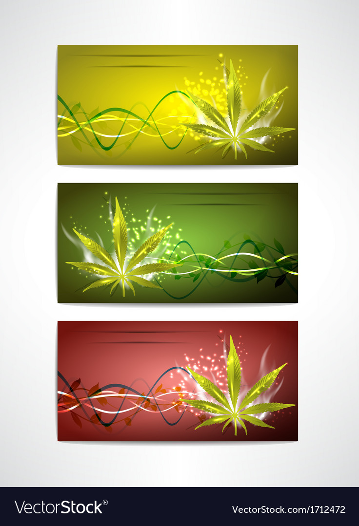 Marijuana cards set vector | Price: 1 Credit (USD $1)
