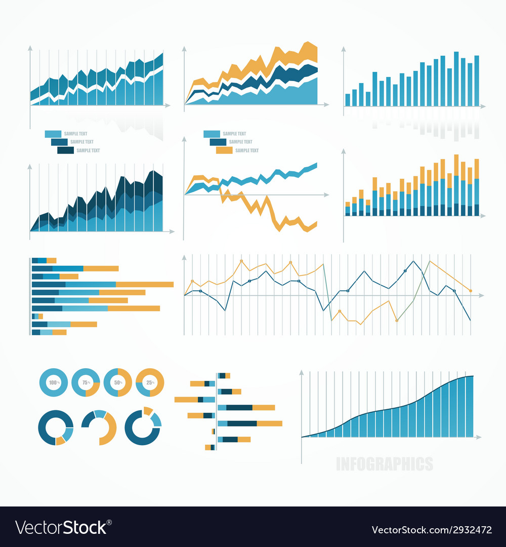 Set of infographics elements vector | Price: 1 Credit (USD $1)