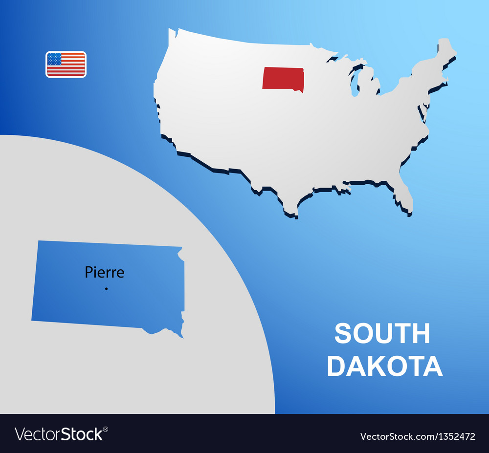 South dakota vector | Price: 1 Credit (USD $1)