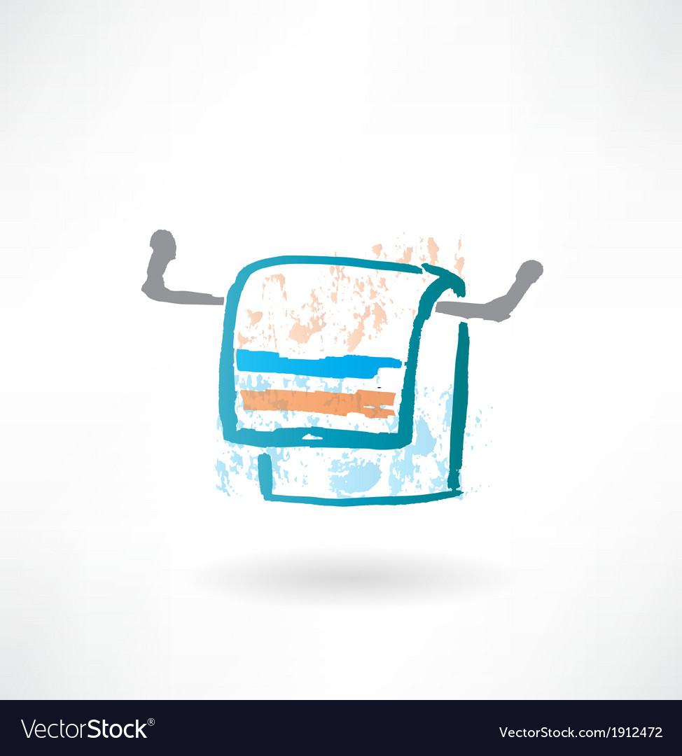 Towel grunge icon vector | Price: 1 Credit (USD $1)