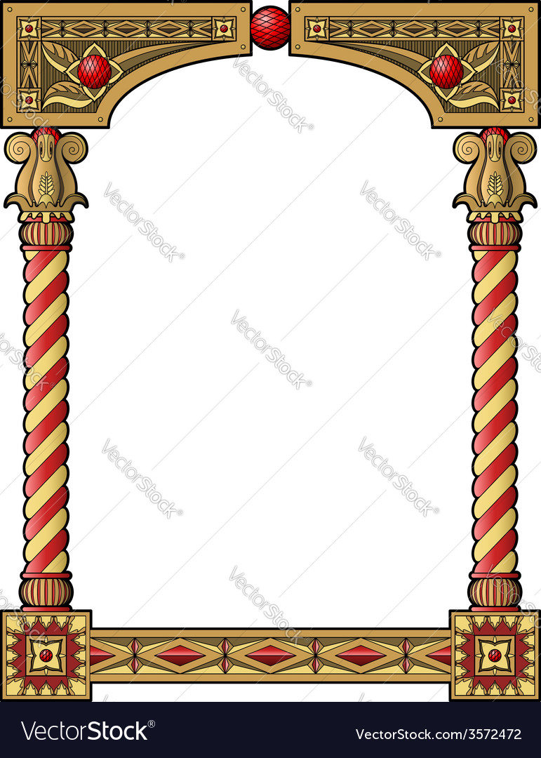 Traditional column frame vector | Price: 1 Credit (USD $1)