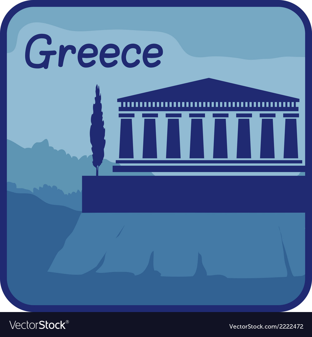 With acropolis of athens in greece vector | Price: 1 Credit (USD $1)