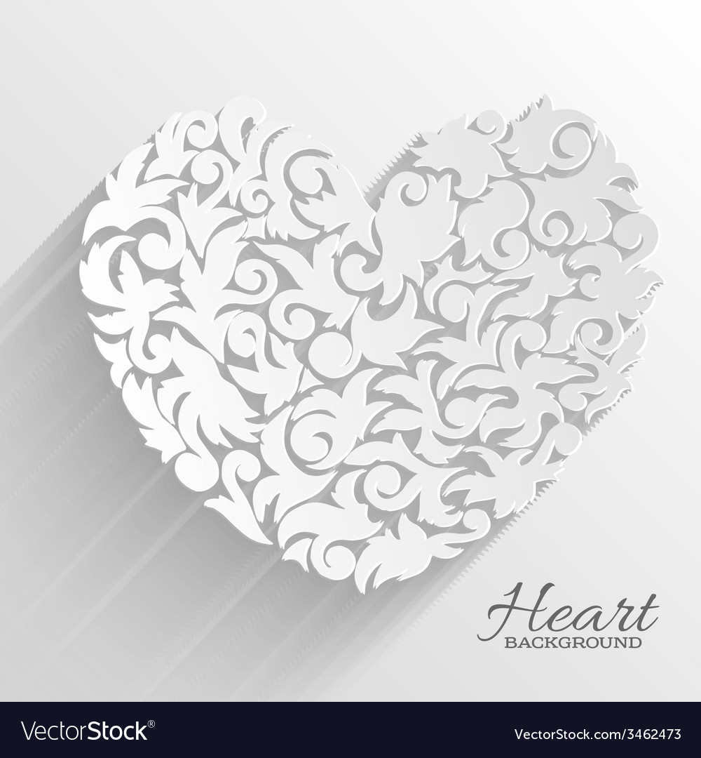 Abstract ornament heart background concept vector   Price: 1 Credit (USD $1)