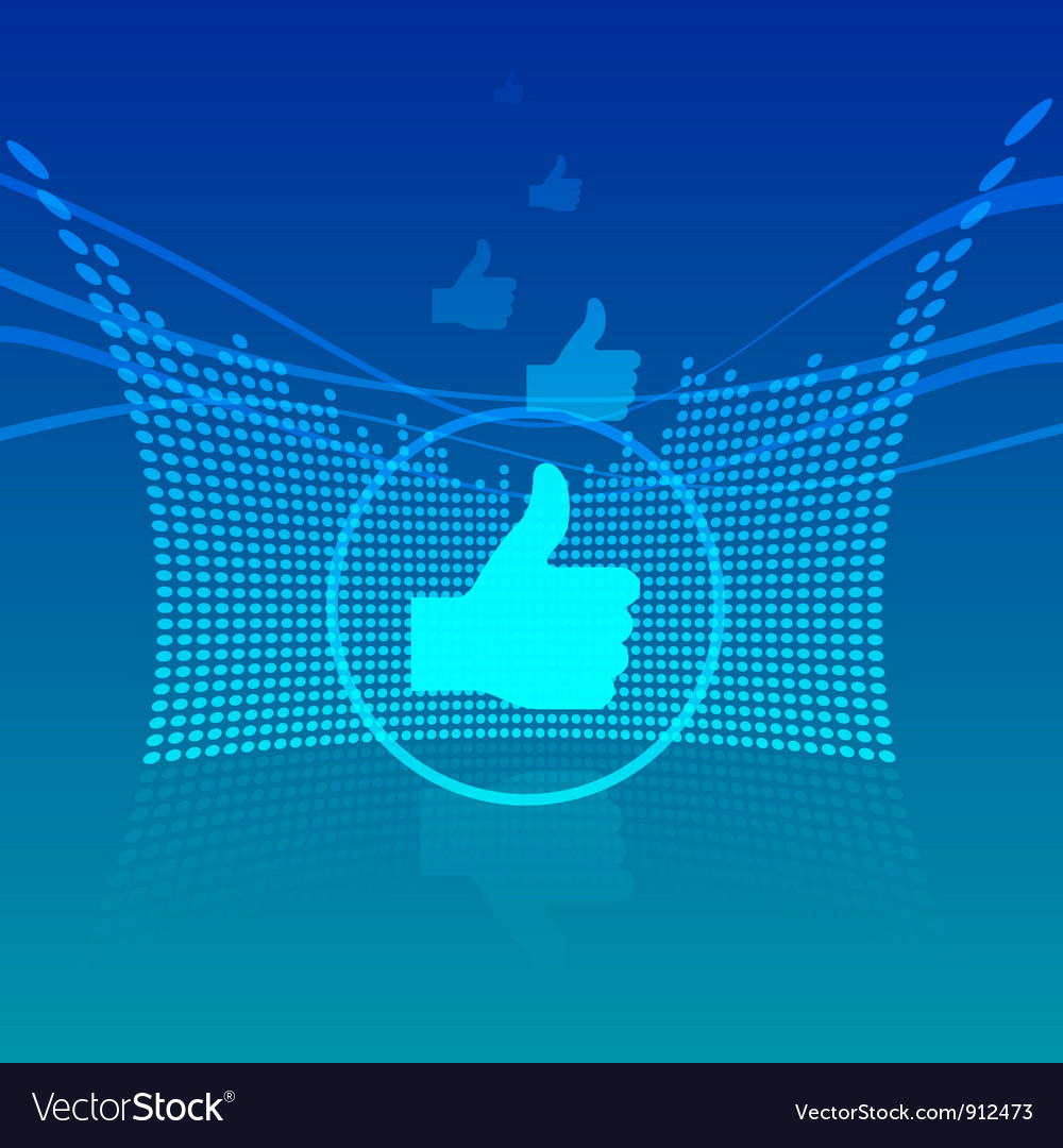 Abstract thumbs up vector | Price: 1 Credit (USD $1)