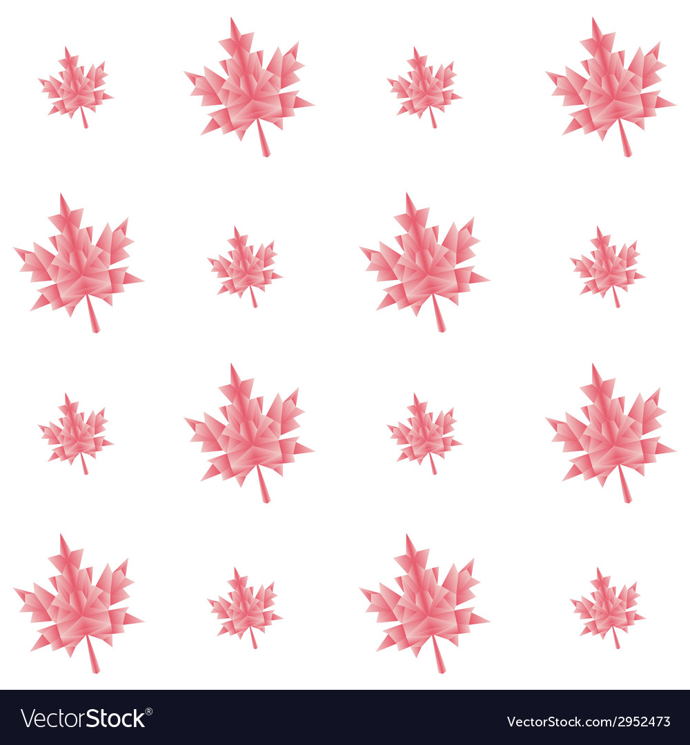 Autumn polygonal maple leaves seamless pattern vector | Price: 1 Credit (USD $1)