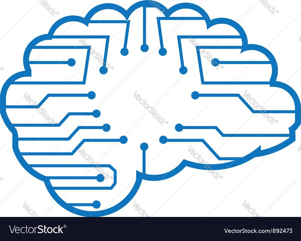 Chip brain vector | Price: 1 Credit (USD $1)