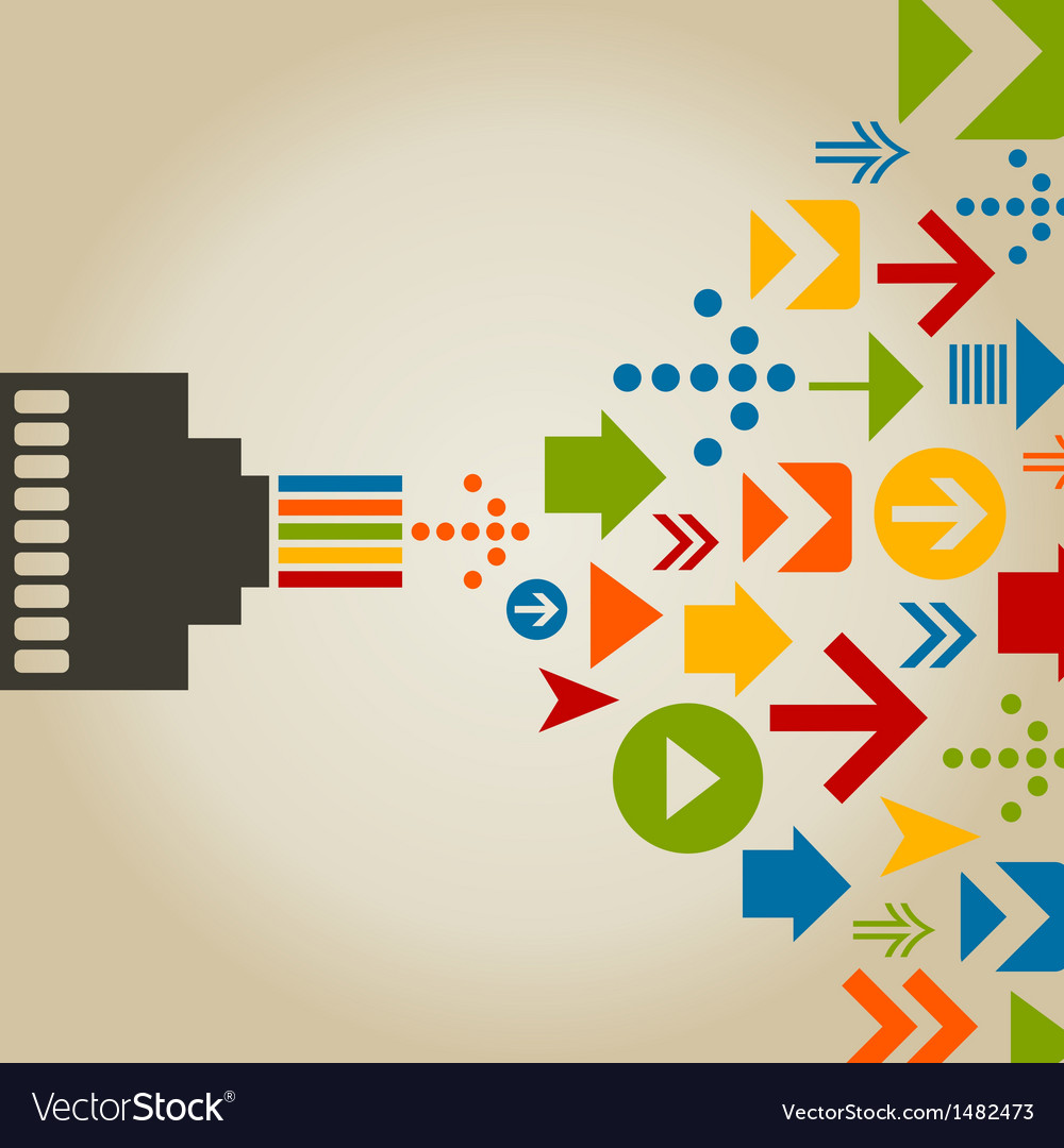 Connection the computer vector | Price: 1 Credit (USD $1)