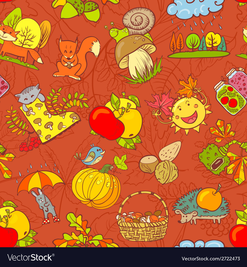 Fall season seamless vector | Price: 1 Credit (USD $1)