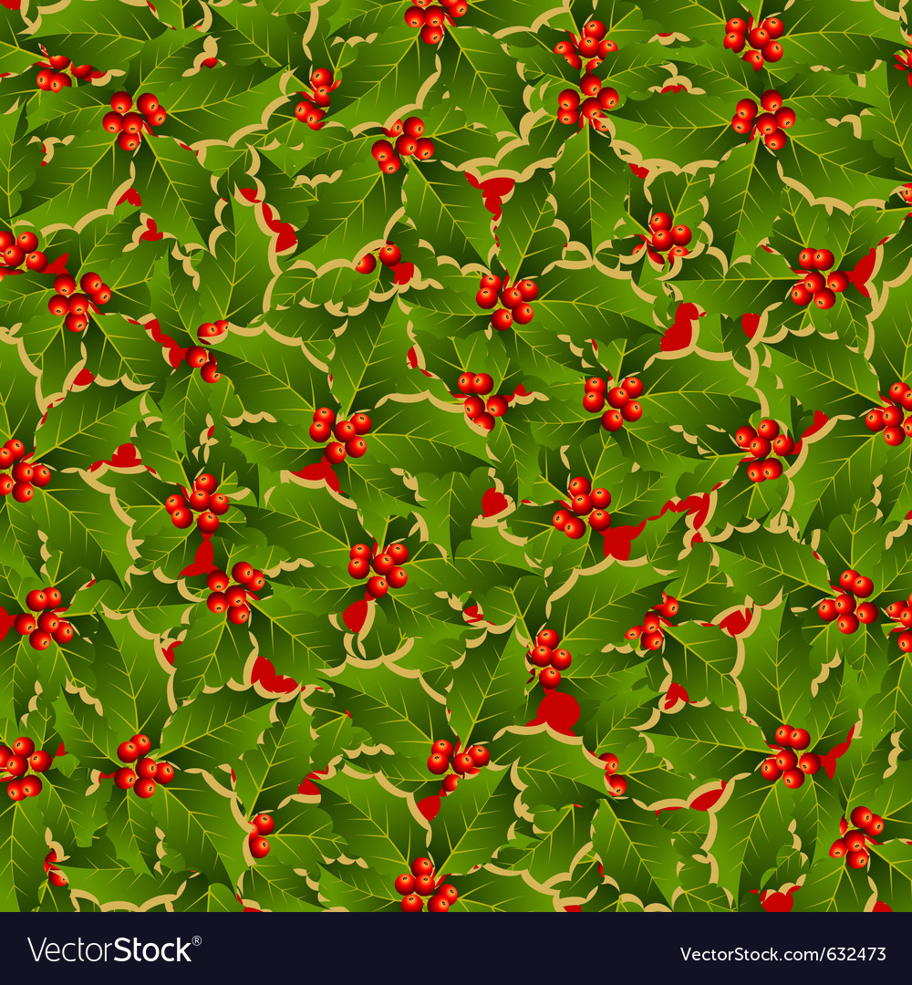 Holly background vector | Price: 1 Credit (USD $1)