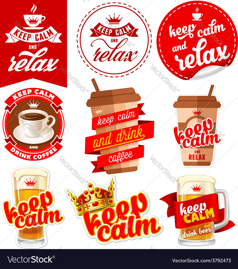 Keep calm vector | Price: 3 Credit (USD $3)