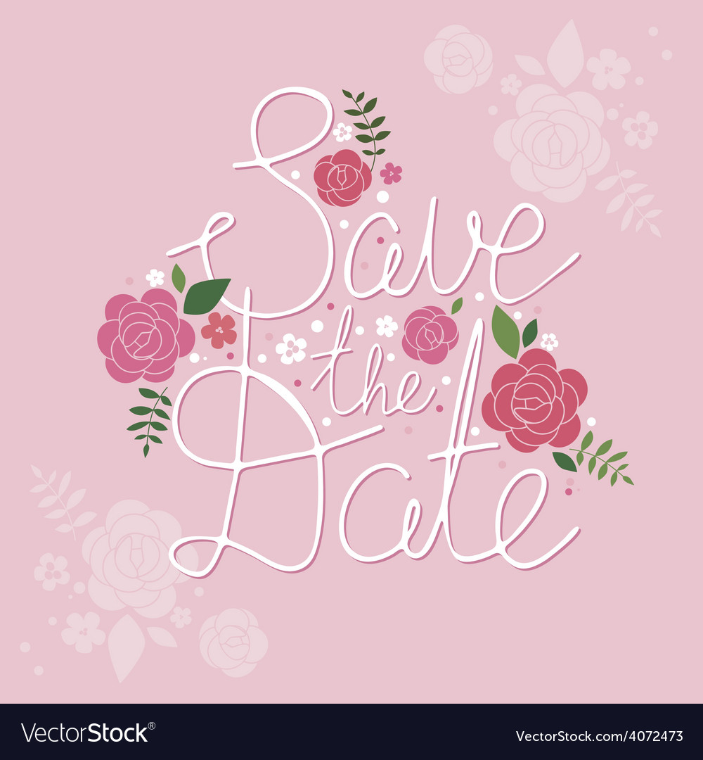 Save the date design vector | Price: 1 Credit (USD $1)