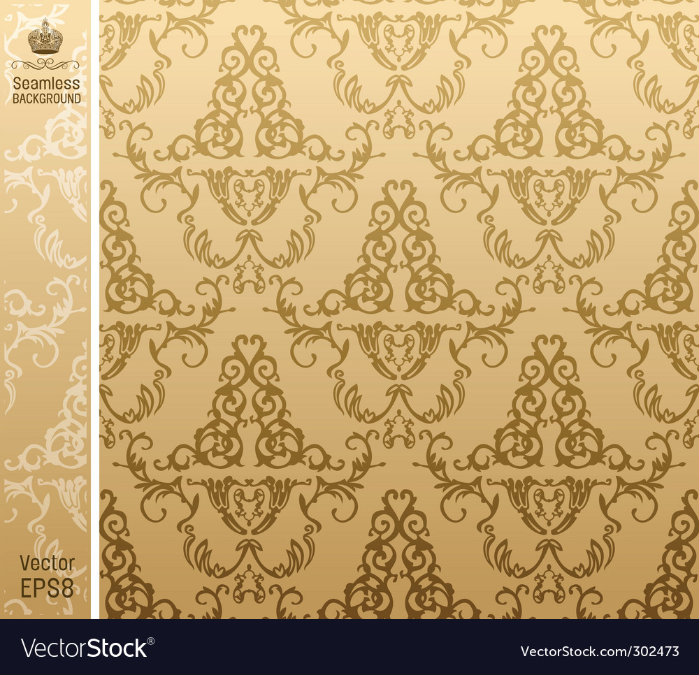 Seamless royal background flower pattern vector | Price: 1 Credit (USD $1)