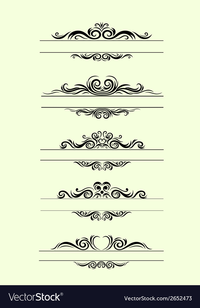 Set label floral vector | Price: 1 Credit (USD $1)
