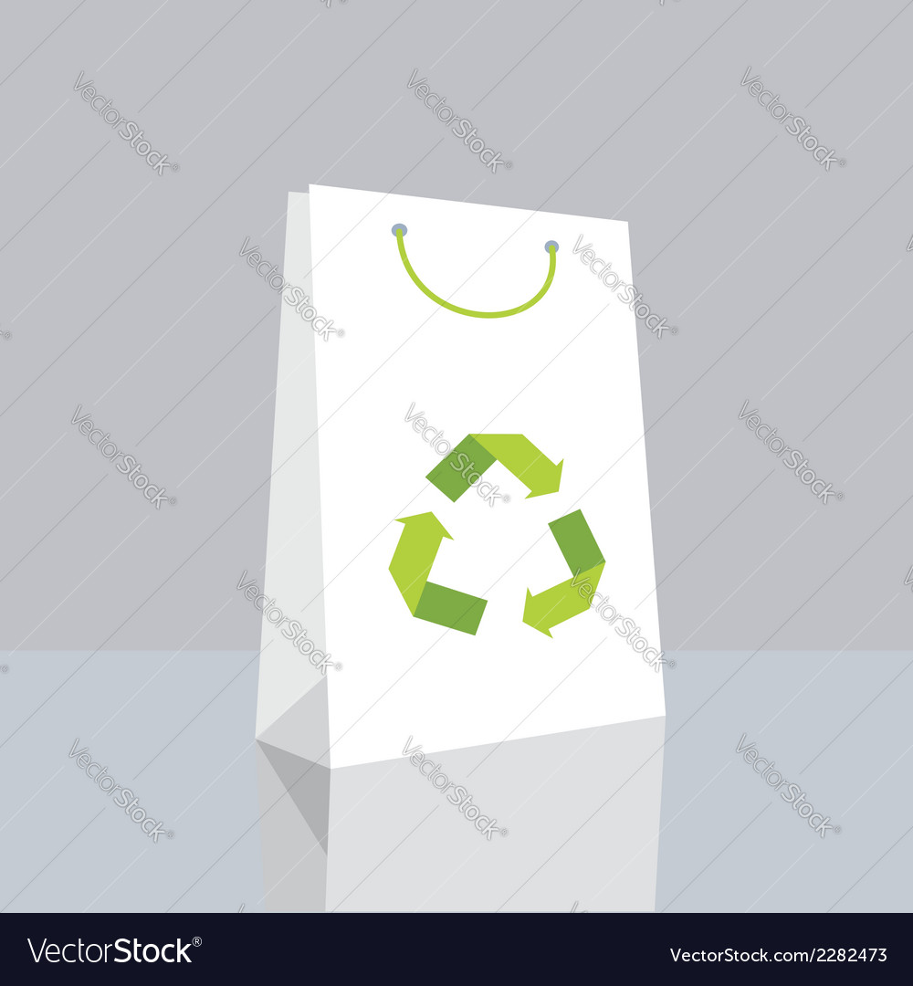 Shopping bag with recycle symbol vector | Price: 1 Credit (USD $1)
