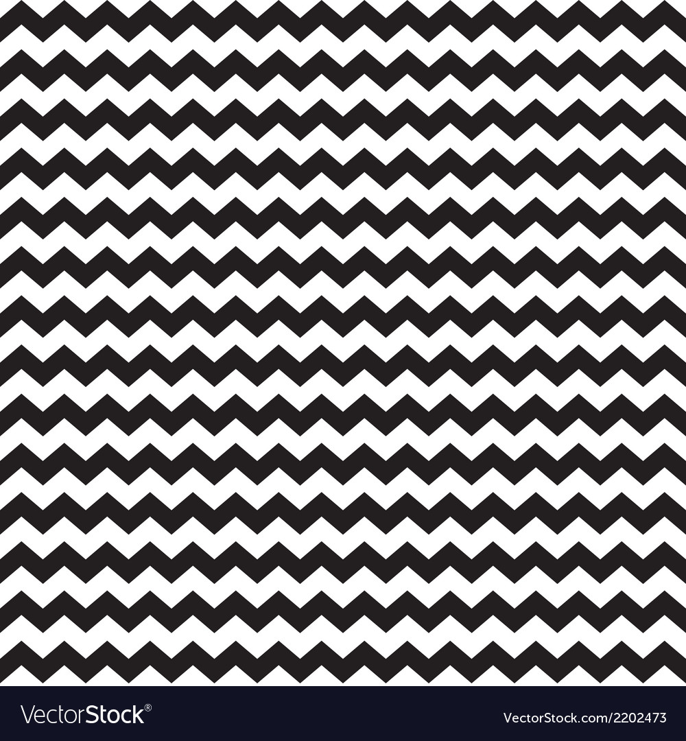 Zig zag chevron wrapping tile black white pattern vector | Price: 1 Credit (USD $1)