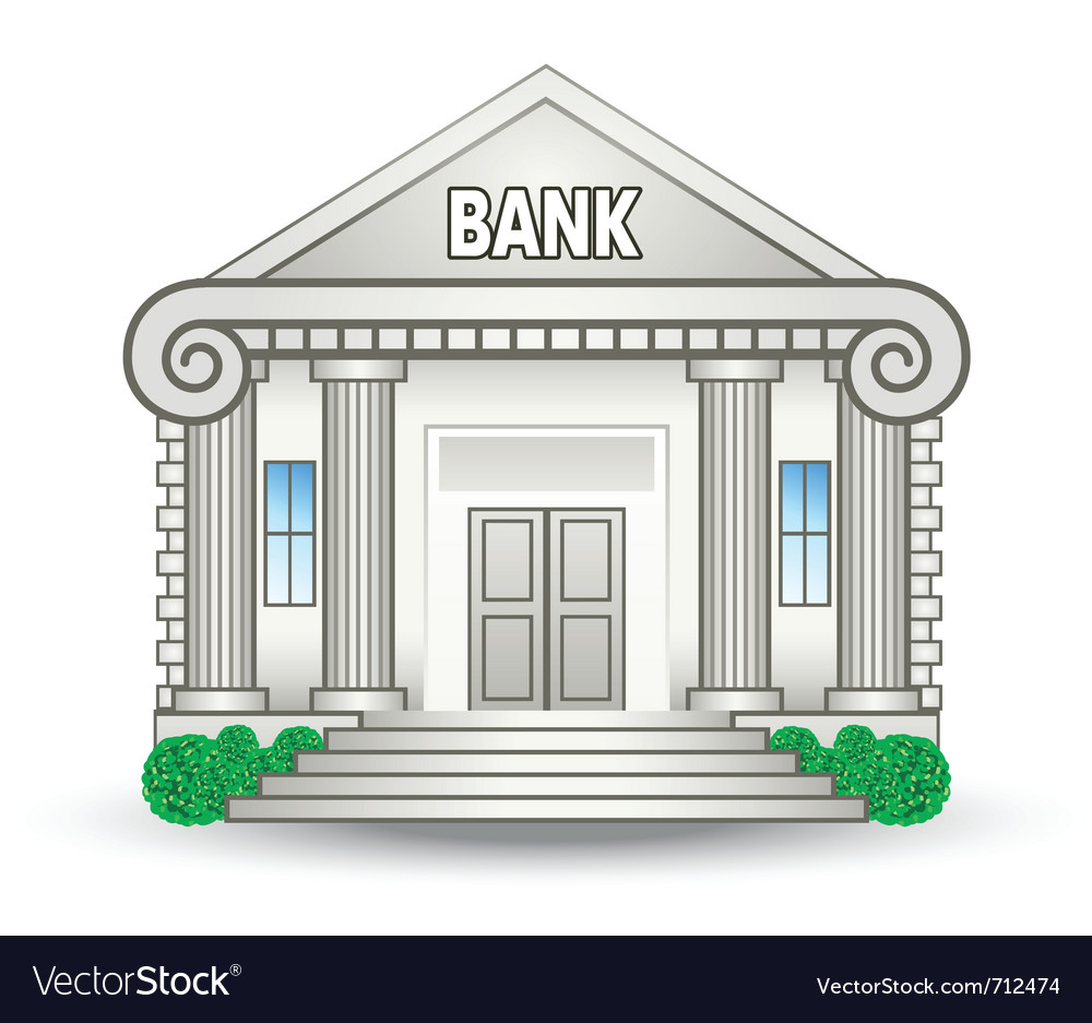 Bank building vector | Price: 3 Credit (USD $3)