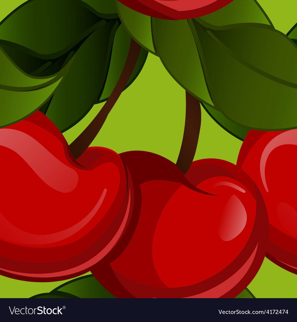 Bright jucy fresh cherry fruit  cherries vector | Price: 1 Credit (USD $1)